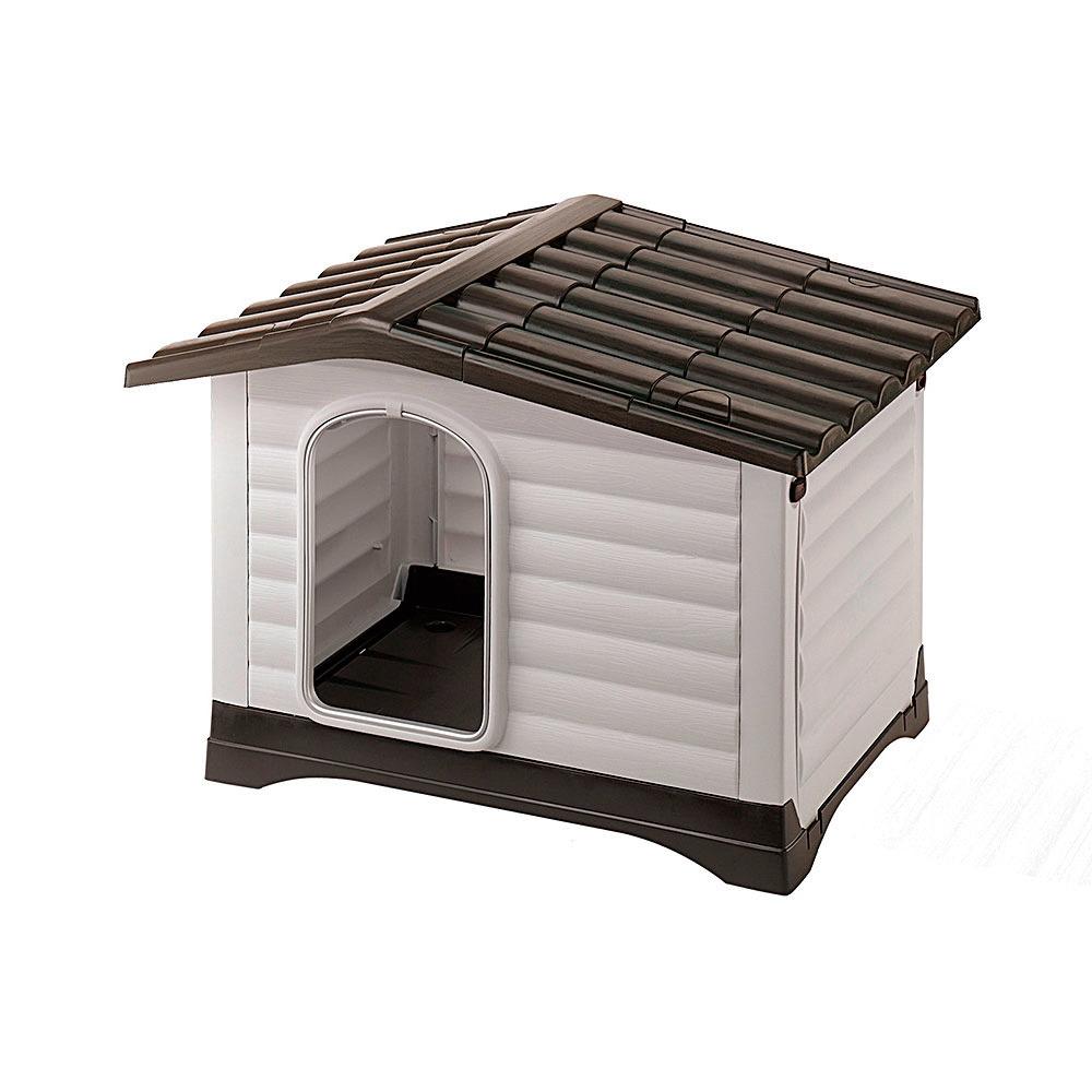 Ferplast Dogvilla Grijs&Bruin - Hondenhok - 73x59x53 cm