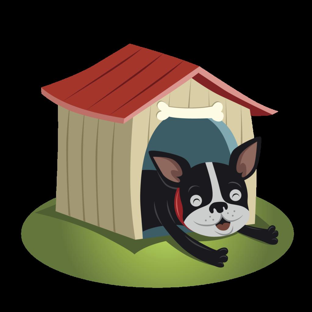 Hond in hok icoon