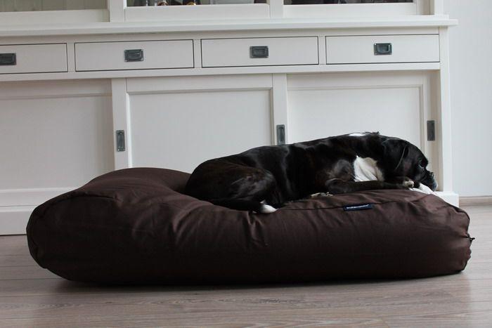 Hondenkussen chocolade bruin katoen superlarge
