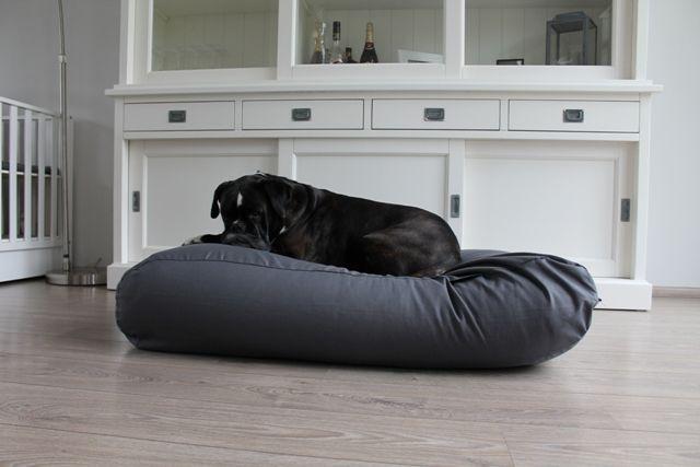 Hondenkussen graniet grijs katoen superlarge
