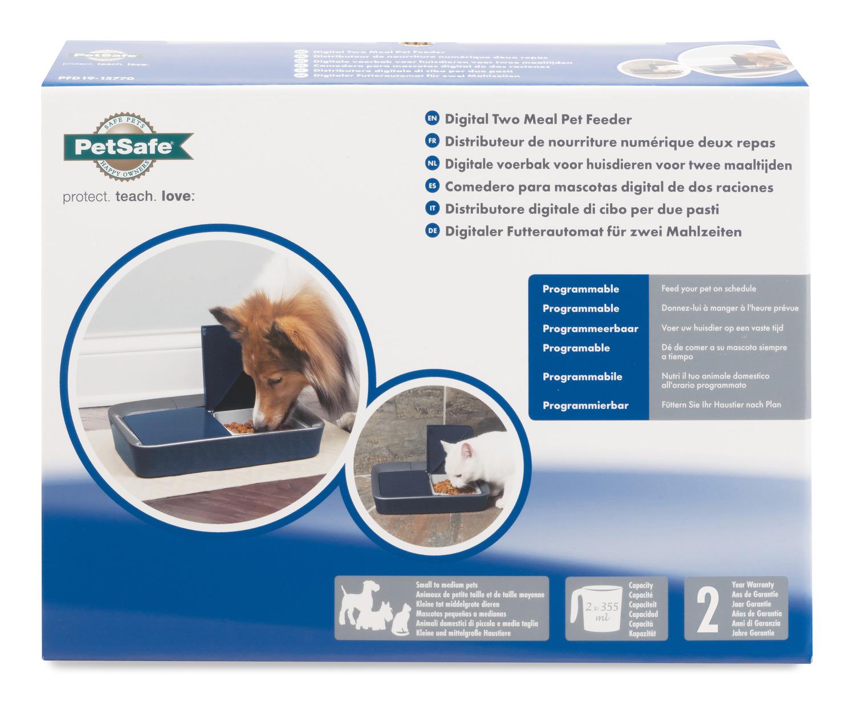 Petsafe Voersysteem Automatisch - Hondenvoerbak - 6.5x30.1x22.5 cm Blauw Grijs